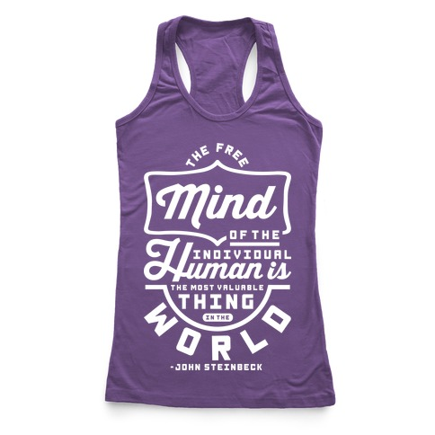The Most Valuable Thing In The World Racerback Tank Top
