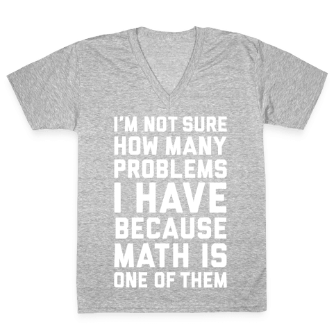 Math Problems V-Neck Tee Shirt
