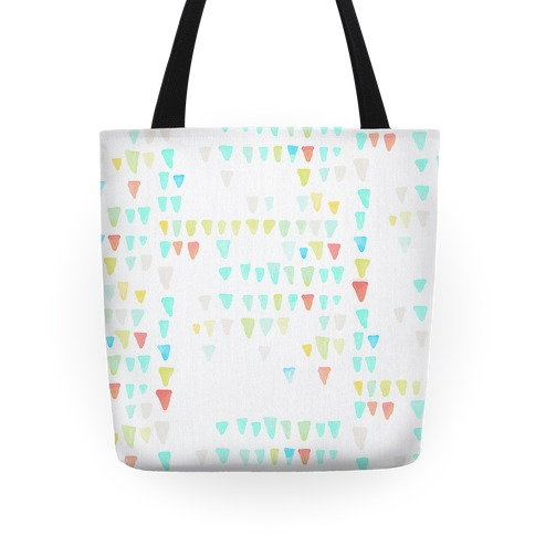 Watercolor Triangles Tote