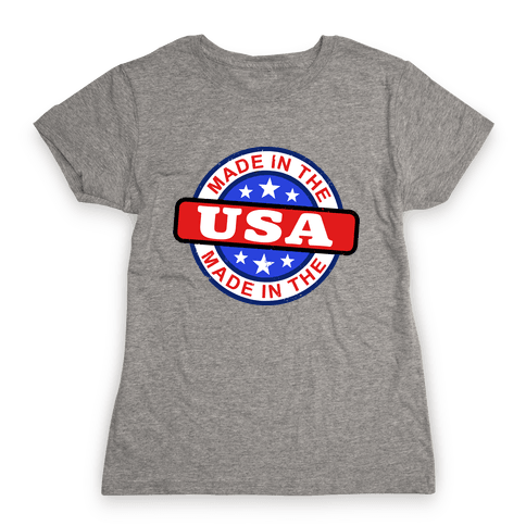 Made In The USA (Flag) Womens T-Shirt