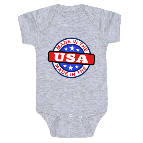 Made In The USA (Flag) Baby Onesy