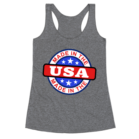 Made In The USA (Flag) Racerback Tank Top