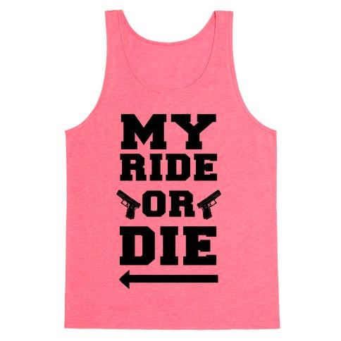 My Ride or Die (Neon Blue) Tank Top