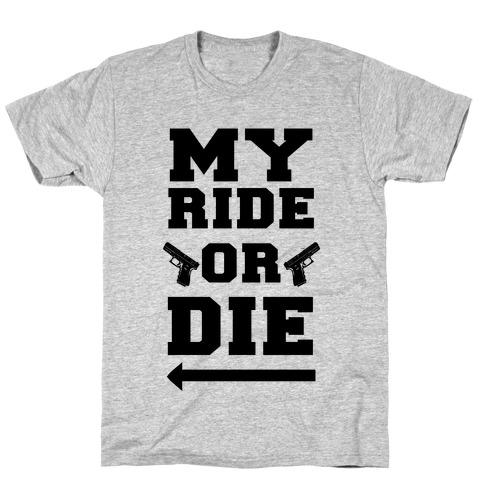 My Ride or Die (Neon Blue) T-Shirt