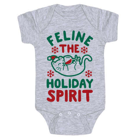 Feline the Holiday Spirit Baby Onesy