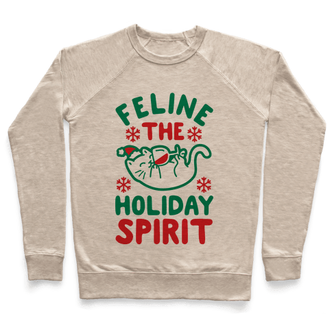 Feline the Holiday Spirit Pullover