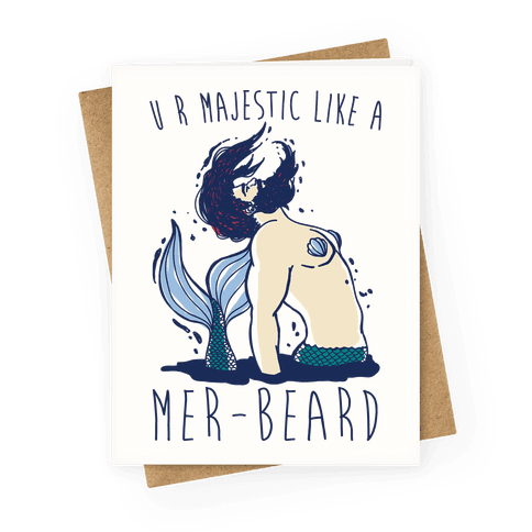 Majestic Mer-Beard Greeting Card