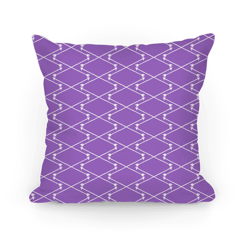 Amethyst Hipster Bow Arrow Crisscross Pattern Pillow