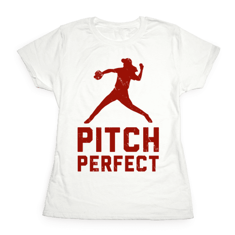 Pitch Perfect (Baseball Tee) Womens T-Shirt