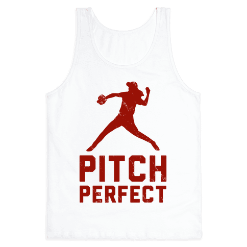 Pitch Perfect (Baseball Tee) Tank Top