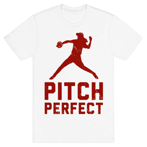Pitch Perfect (Baseball Tee) Mens T-Shirt