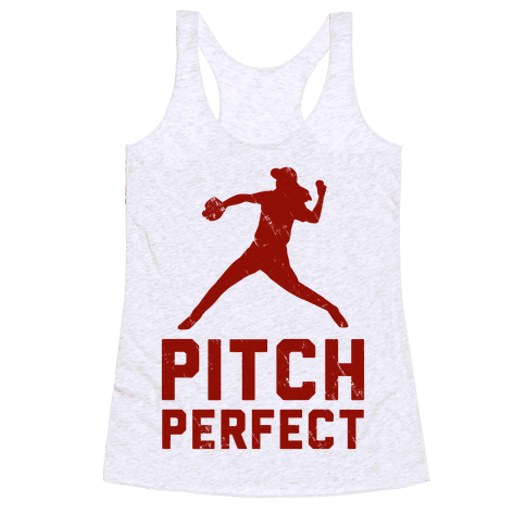 Pitch Perfect (Baseball Tee) Racerback Tank Top