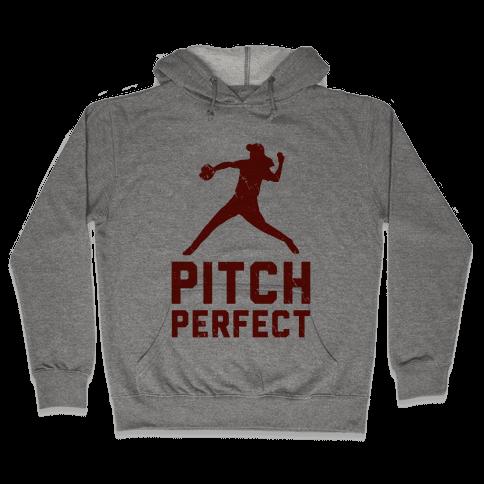 Pitch Perfect (Baseball Tee) Hooded Sweatshirt