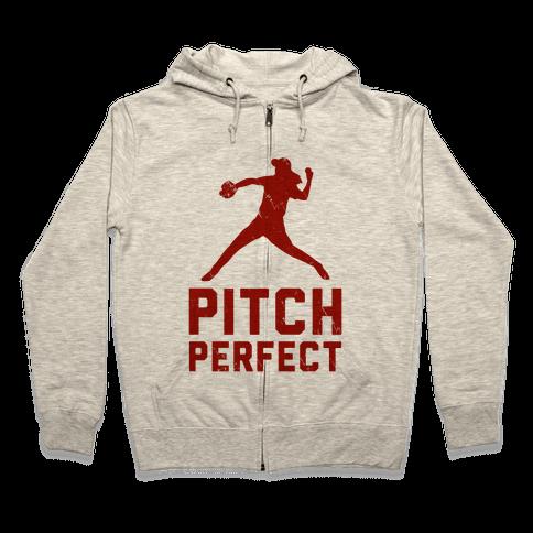 Pitch Perfect (Baseball Tee) Zip Hoodie