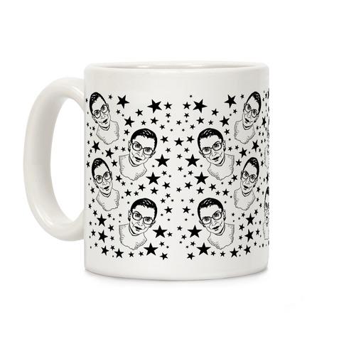 Ruth Bader Ginsburg Pattern Coffee Mug
