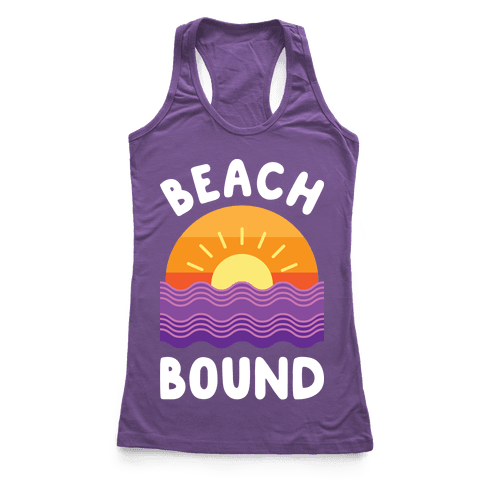 Beach Bound (White) Racerback Tank Top