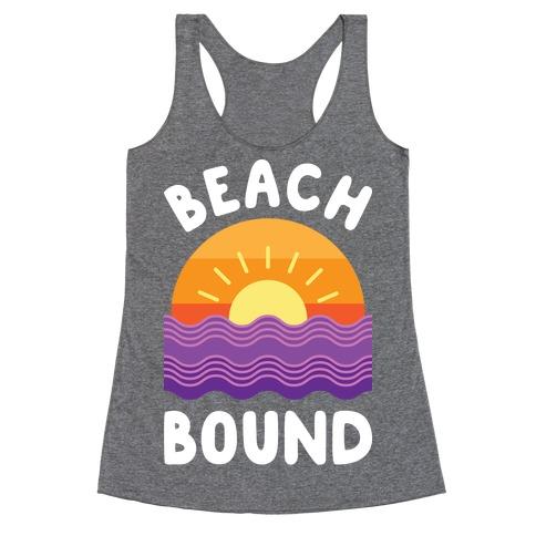 Beach Bound (White) Racerback Tank Top