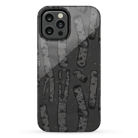 Birch Trees in the Darkness Phone Case