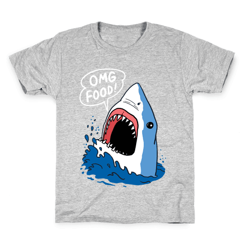 Omg Food Shark Kids T-Shirt