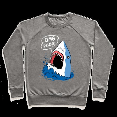 Omg Food Shark Pullover