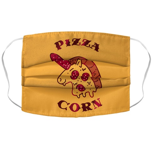 Pizzacorn Accordion Face Mask