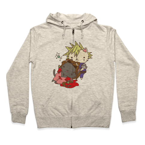 Final Cat Fantasy Zip Hoodie
