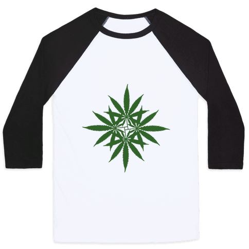 Leaf Pattern Baseball Tee