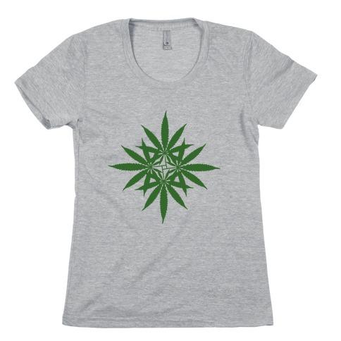 Leaf Pattern Womens T-Shirt