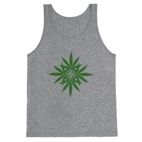 Leaf Pattern Tank Top