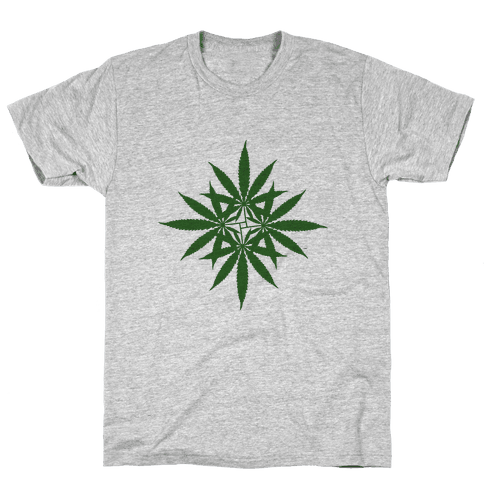 Leaf Pattern Mens T-Shirt