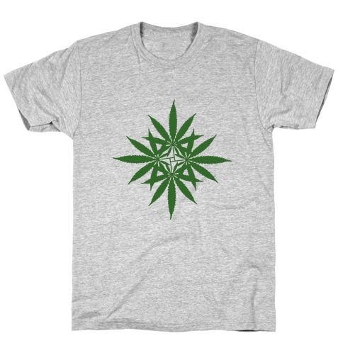 Leaf Pattern Mens T-Shirt