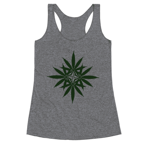 Leaf Pattern Racerback Tank Top