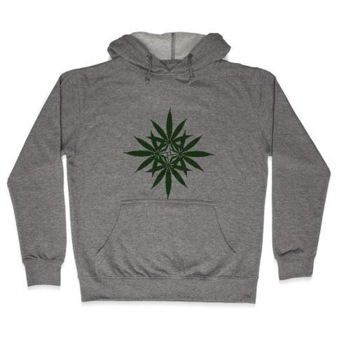 Leaf Pattern Hooded Sweatshirt