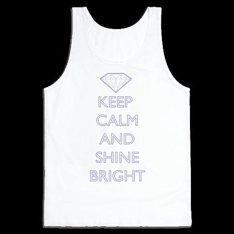 Keep Calm and Shine Bright (Purple) Tank Top