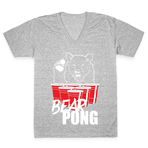 Bear Pong V-Neck Tee Shirt