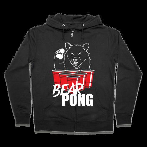 Bear Pong Zip Hoodie