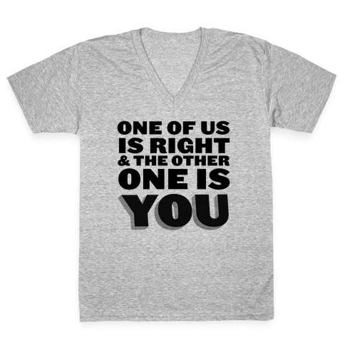 One of Us V-Neck Tee Shirt