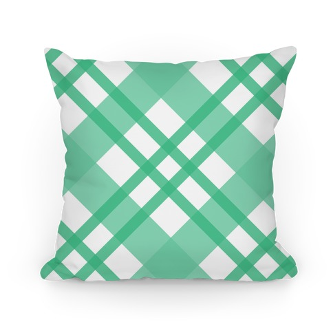 Mint Plaid Pillow