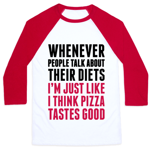 Pizza Diet Baseball Tee