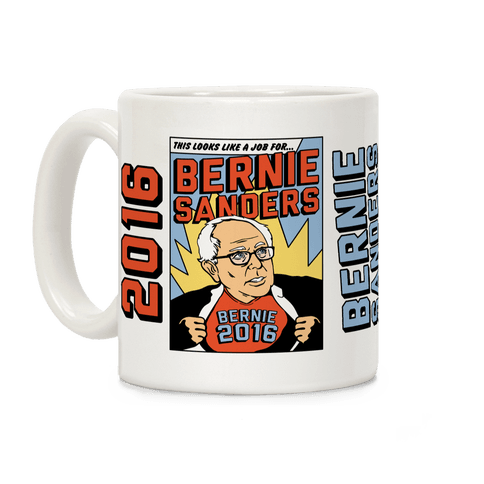 Super Hero Bernie Sanders 2016 Coffee Mug