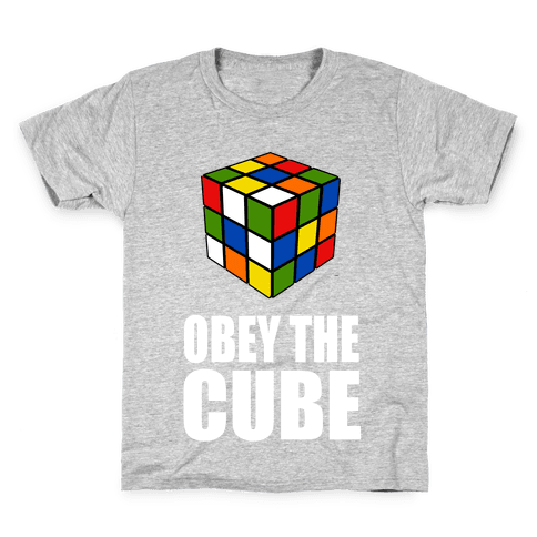 Obey the Cube (Juniors) Kids T-Shirt