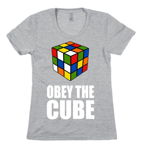 Obey the Cube (Juniors) Womens T-Shirt