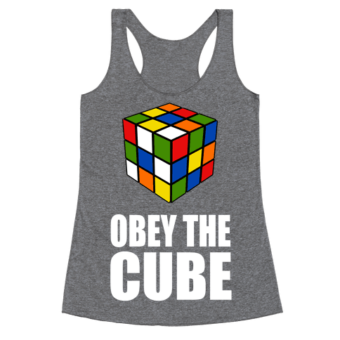 Obey the Cube (Juniors) Racerback Tank Top