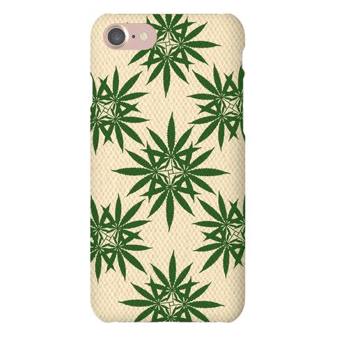 Weed Pattern Phone Case