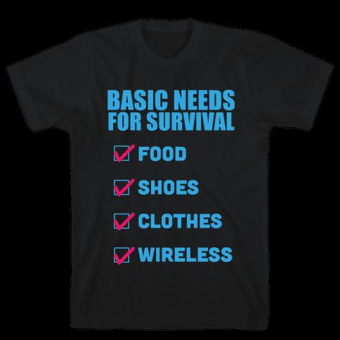 Basic Needs Mens T-Shirt