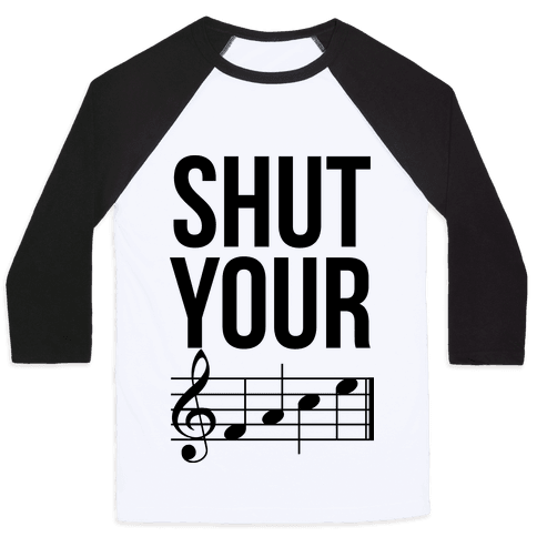 Shut Your (FACE) Baseball Tee