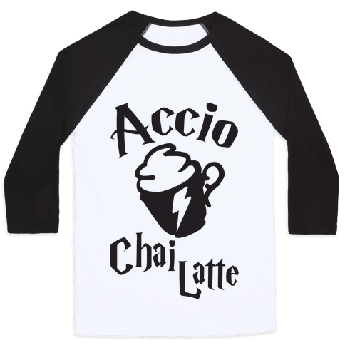 Accio Chai Latte Baseball Tee
