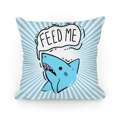 Feed Me Shark Pillow