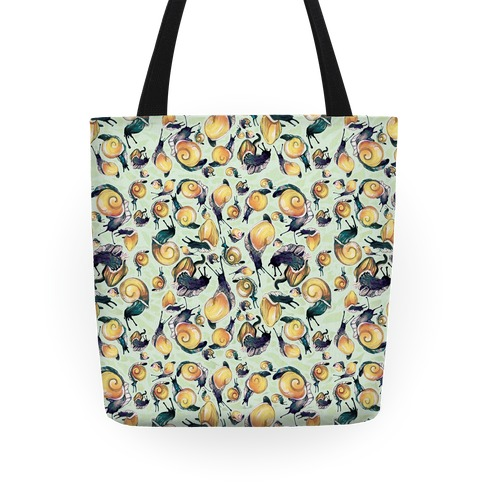 Golden Snail Shells Tote