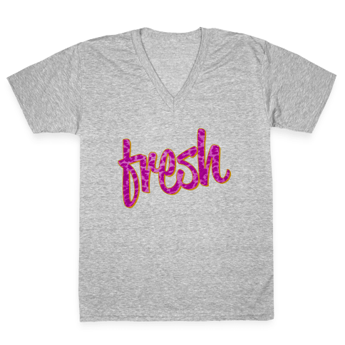 Leopard Fresh V-Neck Tee Shirt